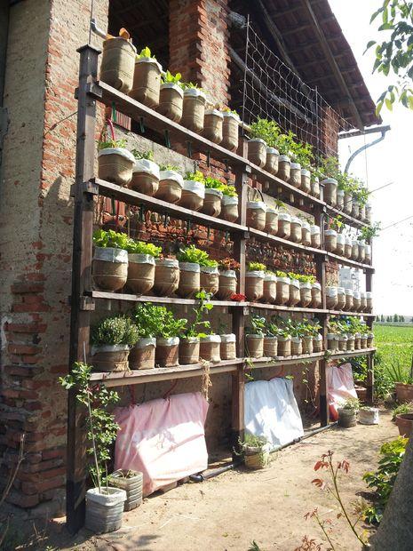 Fabriquer un jardin vertical avec du materiel de recyclage